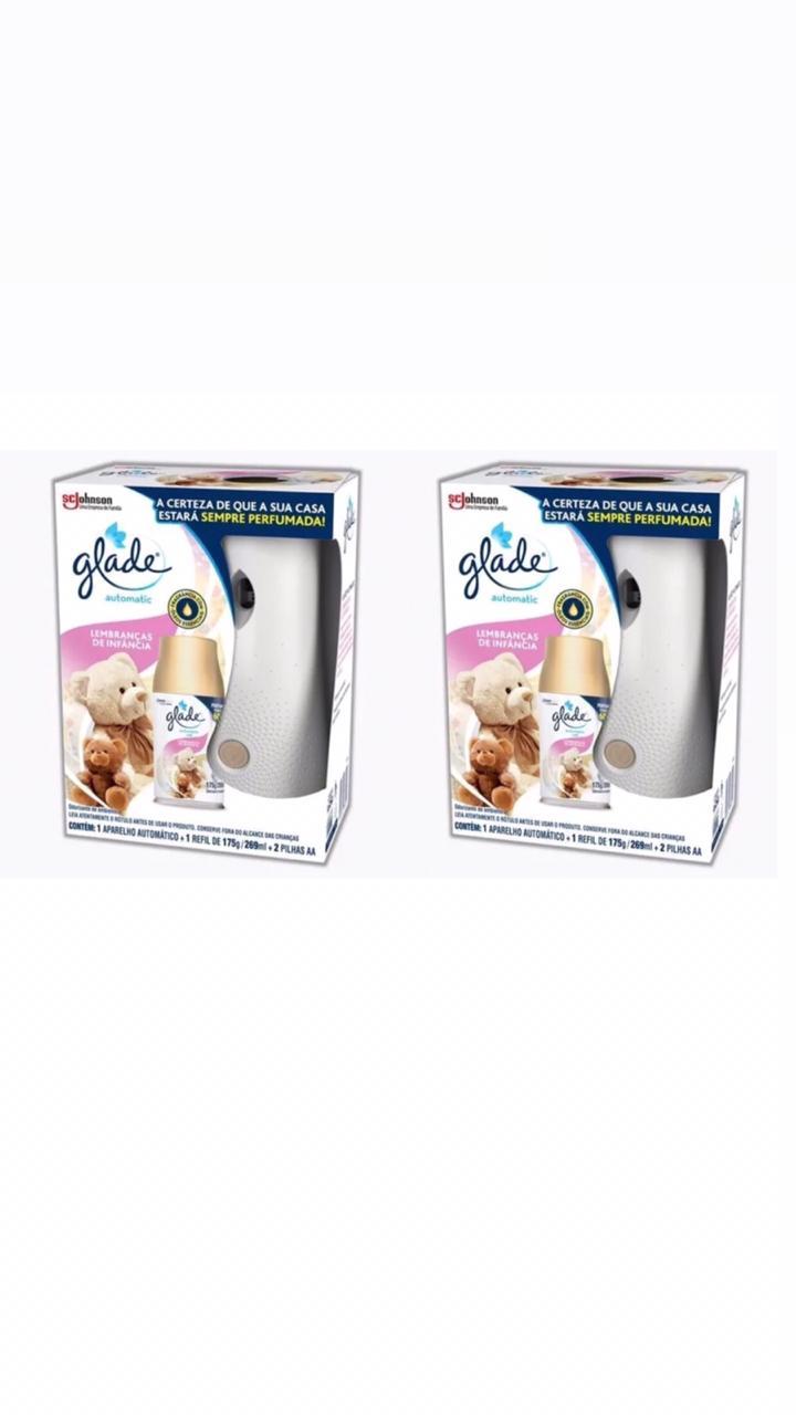 2 Aromatizador Ambiente Glade Automatic 2x1 Lembranças De Infância