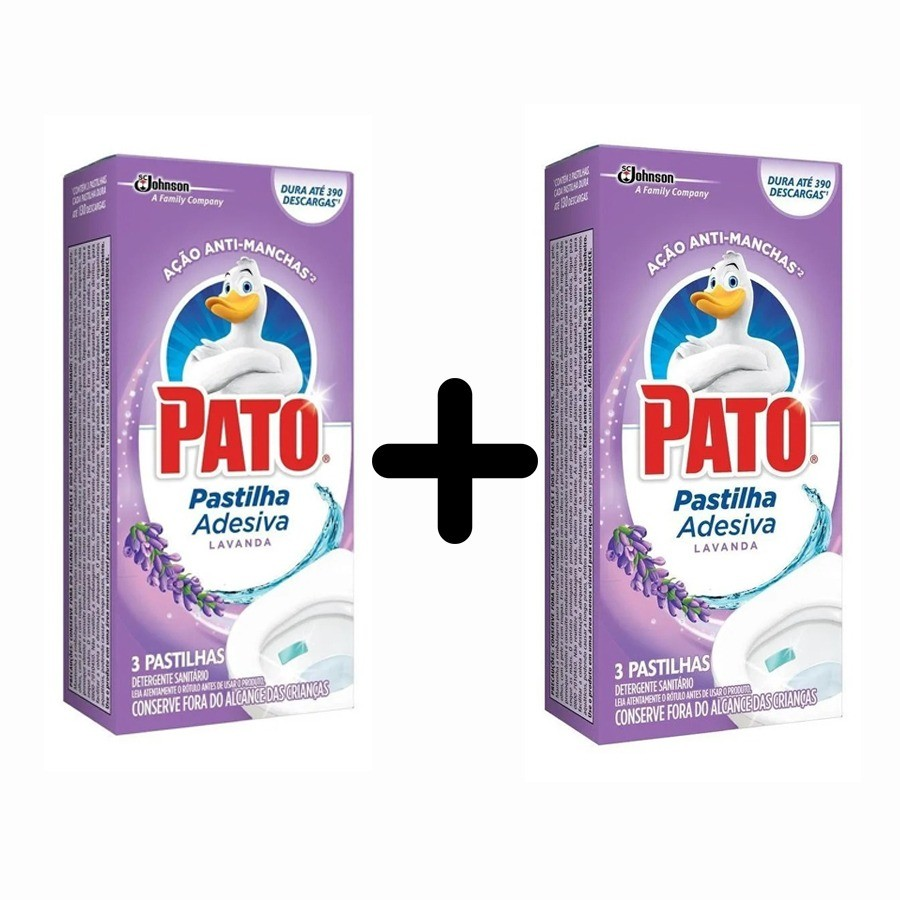 2 Odorizador Sanitário Pato Pastilha Adesiva