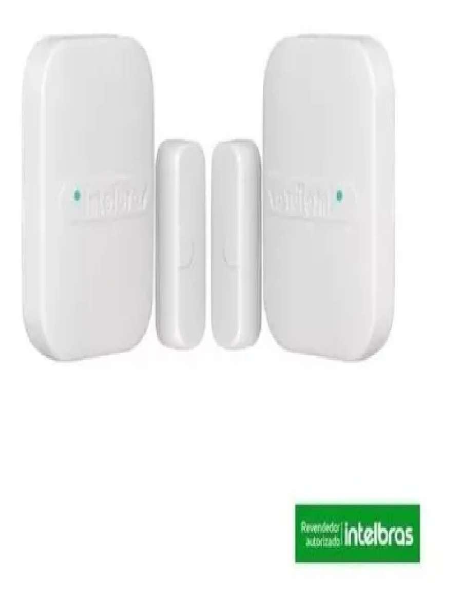 2 Sensor Abertura Magnético S/ Fio Xas 4010 Smart Intelbras