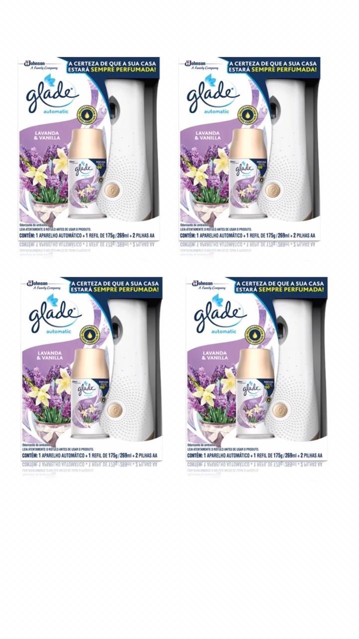 4 Aromatizador Ambiente Glade Automatic 2x1 Lembranças De Infância