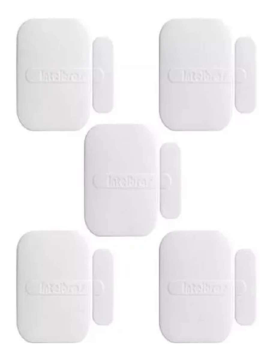 5 Sensor Abertura Magnético S/ Fio Xas 4010 Smart Intelbras
