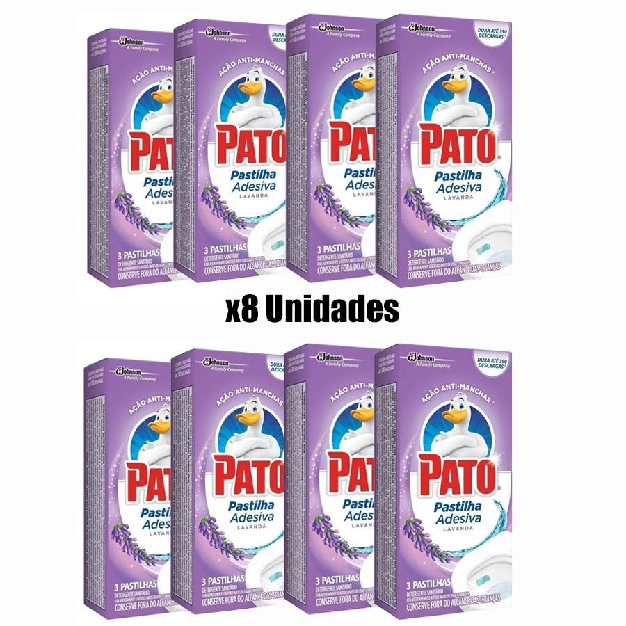 8 Odorizador Sanitário Pato Pastilha Adesiva
