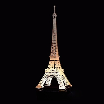 ABAJUR DE MESA LED EM ACRÍLICO 3D PARIS, TORRE EIFFEL 110/220V