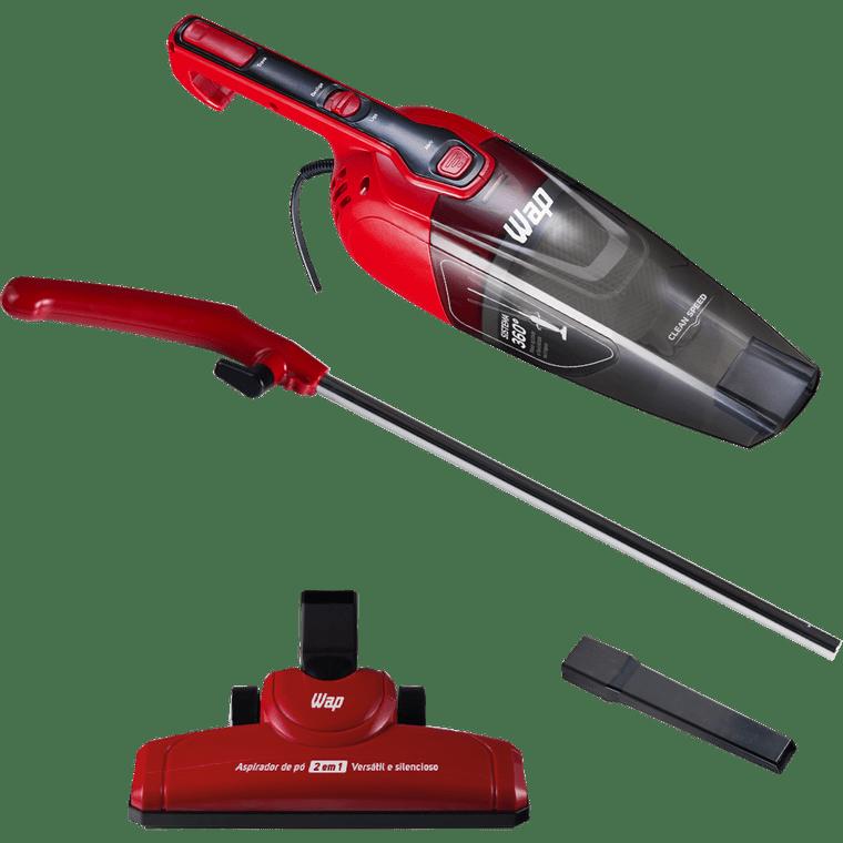 Aspirador De Pó Wap Clean Speed 1L Vermelho e Preto 127V