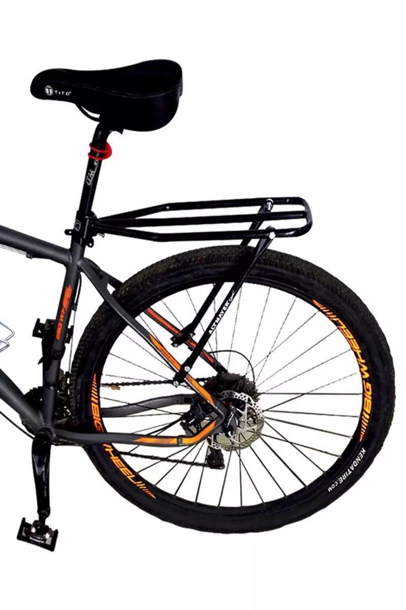 Bagageiro Garupa Traseiro Bicicleta Regulável Universal Ajustável AL-247