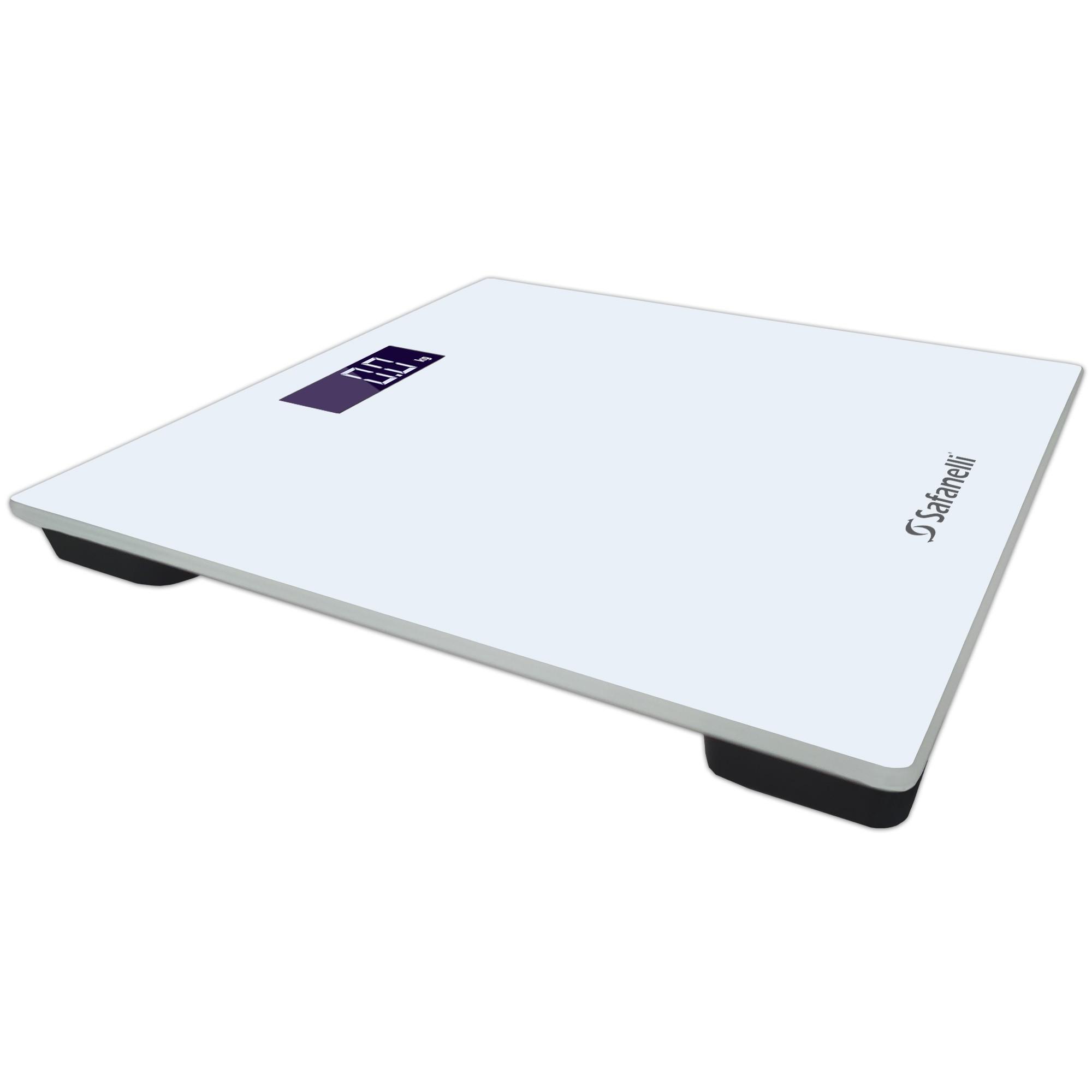 Balança Digital Vidro Temperado Branca Até 180kg Safanelli