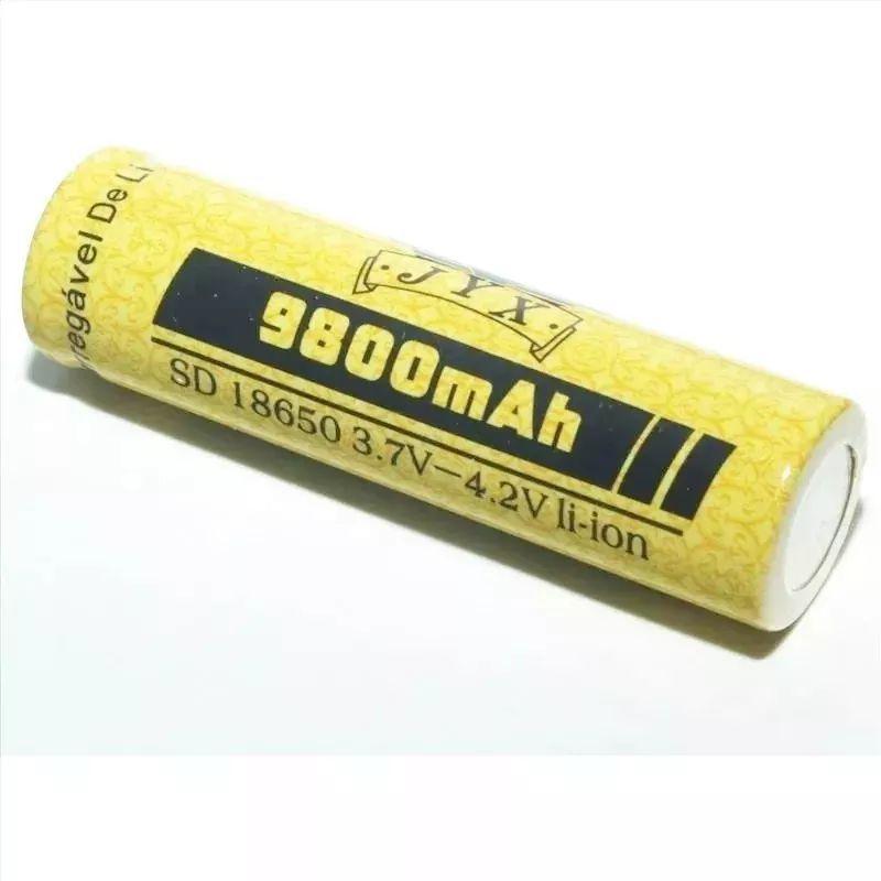 Bateria Recarregável 18650 3.7v - 4.2v 9800 mAh Para Lanterna