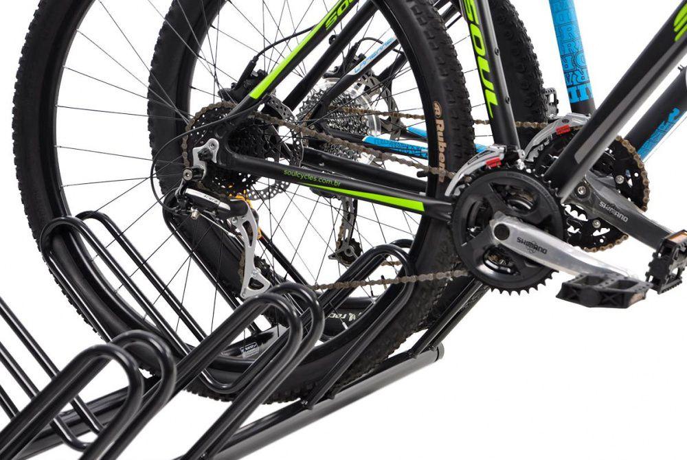 Bicicletário de Chão Para 05 Bicicletas PRETO