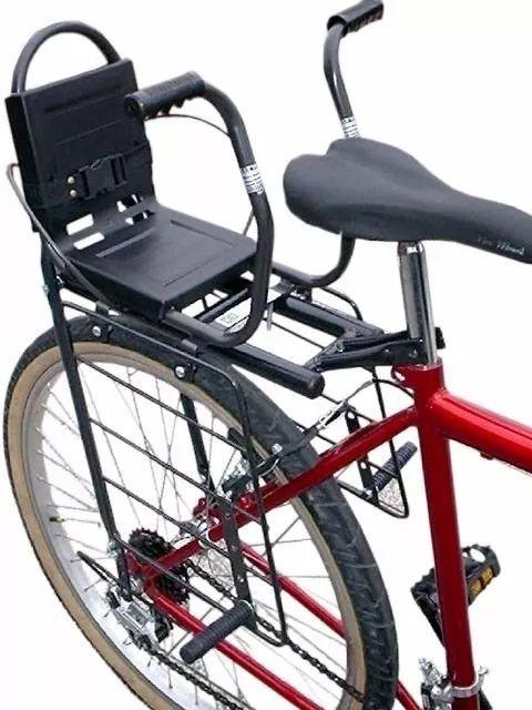 Cadeirinha Bicicleta Com Proteção Para As Pernas E Cinto + Bagageiro Estreito