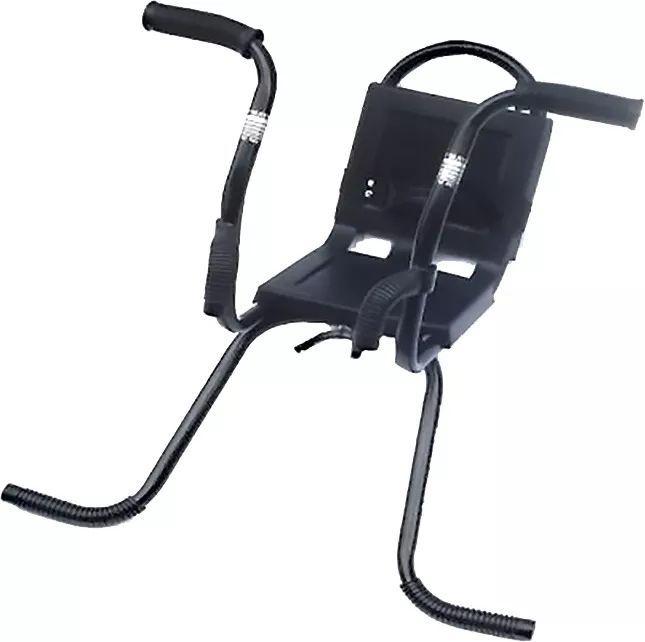 Cadeirinha Para Bicicleta Dianteira MTB Com Guidãozinho Preta