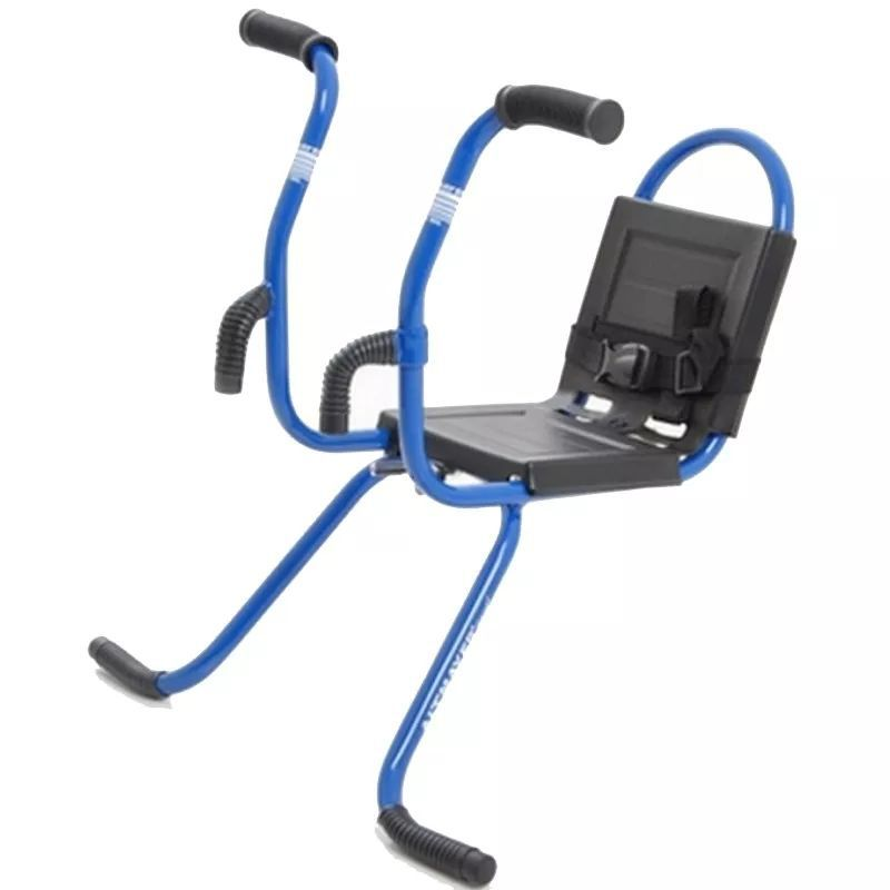 Cadeirinha Para Bicicleta Dianteira MTB Com Guidãozinho Azul