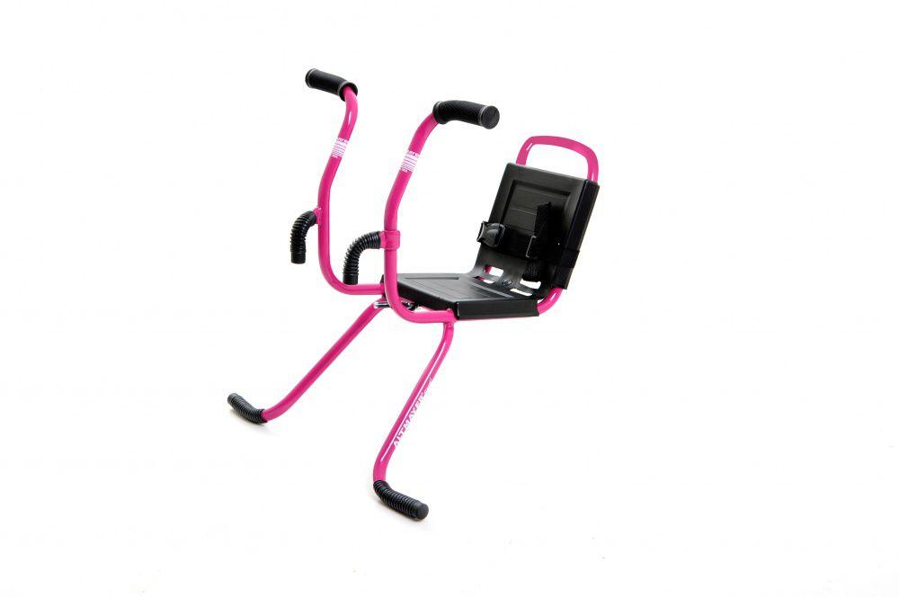 Cadeirinha Para Bicicleta Dianteira MTB Com Guidãozinho Rosa