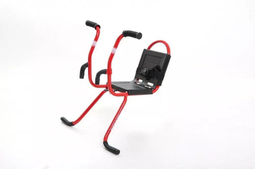 Cadeirinha Para Bicicleta Dianteira MTB Com Guidãozinho Vermelha