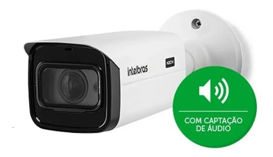 Camera Hdcvi Vhd 5880z Ultra 4k 8mp Mic Varifocal Intelbras 4565141