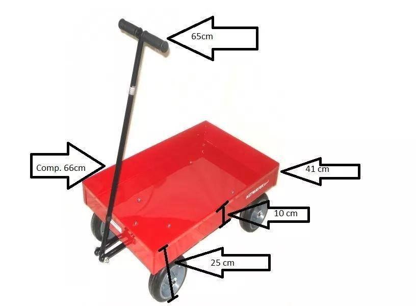 Brinquedo De Puxar/ Carrinho Para Lenha Caçamba Reforçada