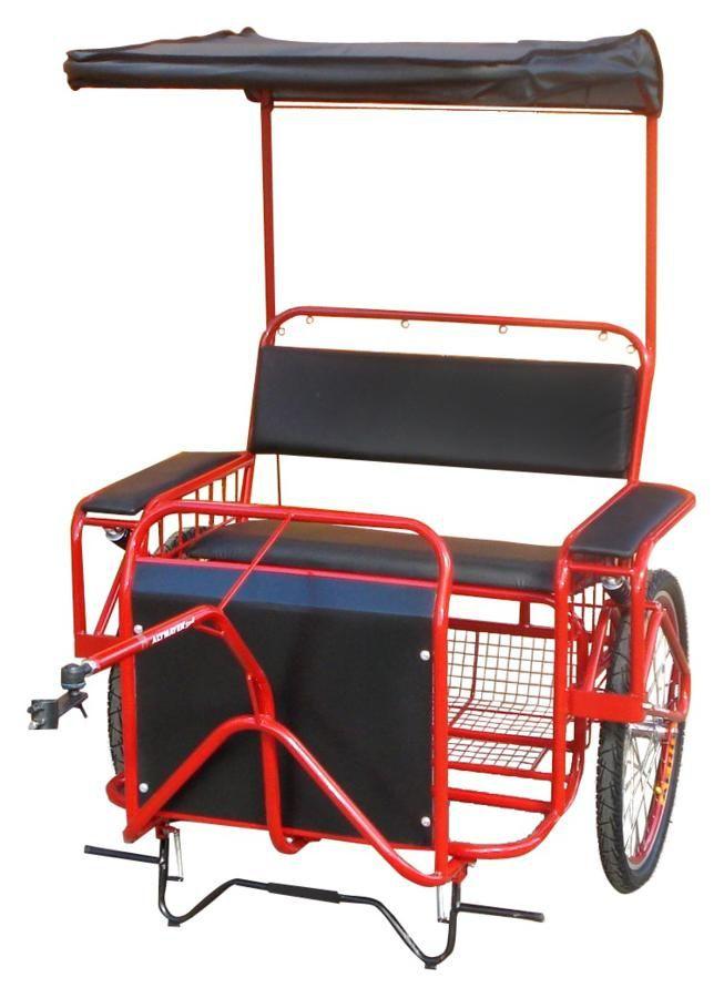 Charrete para Bicicleta Para 2 Pessoas - Bike-Chá