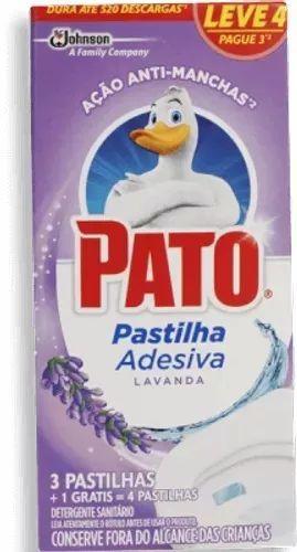 Pastilha Sanitária Adesiva Pato Lavanda Emb. Com 3 Pastilhas
