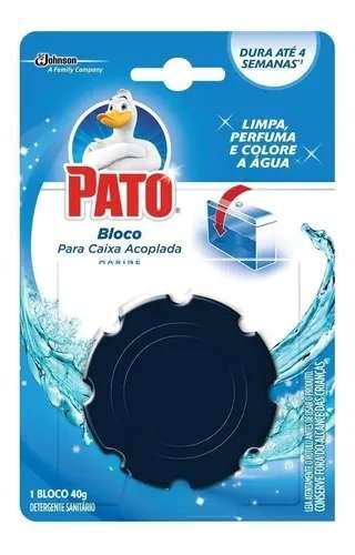 Detergente Sanitário Bloco para Caixa Acoplada Marine Pato 40g kit 2 unidades
