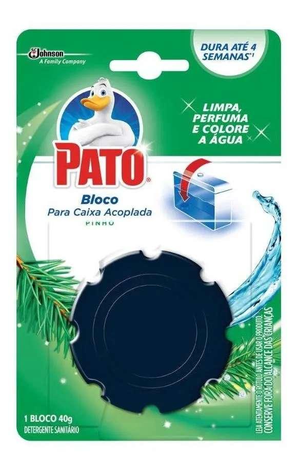 Detergente Sanitário Bloco para Caixa Acoplada Pinho Pato 40g kit 3 unidades