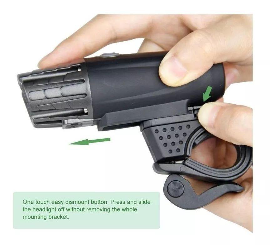 Lanterna Bike e Pisca Traseiro USB Recarregável Combo
