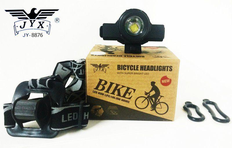 Lanterna Bike com Zoom e Indicador de Carga da Bateria USB