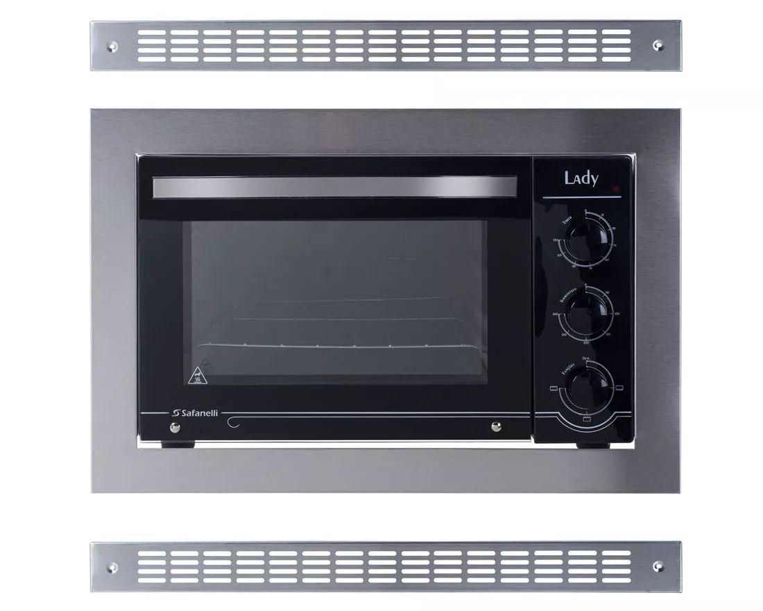 Forno Eletrico Embutir 45L 1750w Com 2 Grades De Ventilação Lady Safanelli