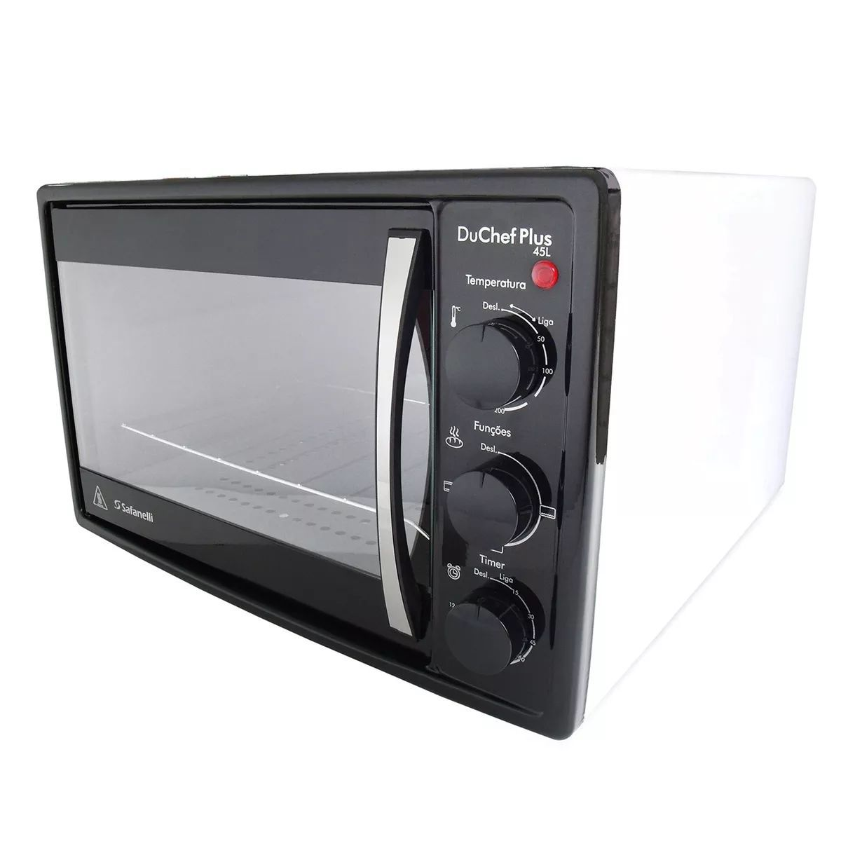 Forno Eletrico Du Chef Plus 45l Branco C/ Timer Safanelli