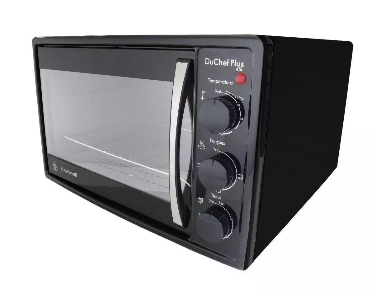 Forno Eletrico Du Chef Plus 45l Preto Safanelli De Bancada