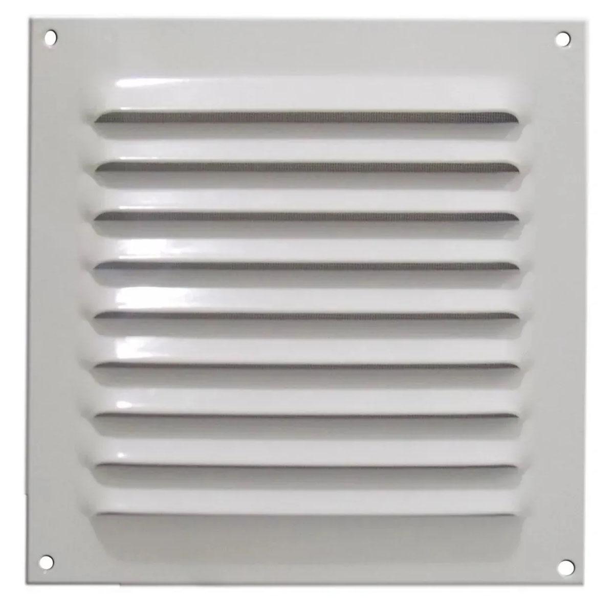 Grade De Ventilação De Alumínio Branca Com Tela 20x20 ITC GA003