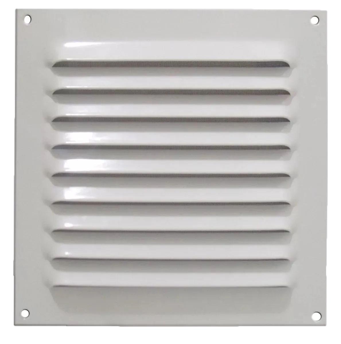 Grade De Ventilação De Alumínio Branca Com Tela 20x20 ITC (GA003)