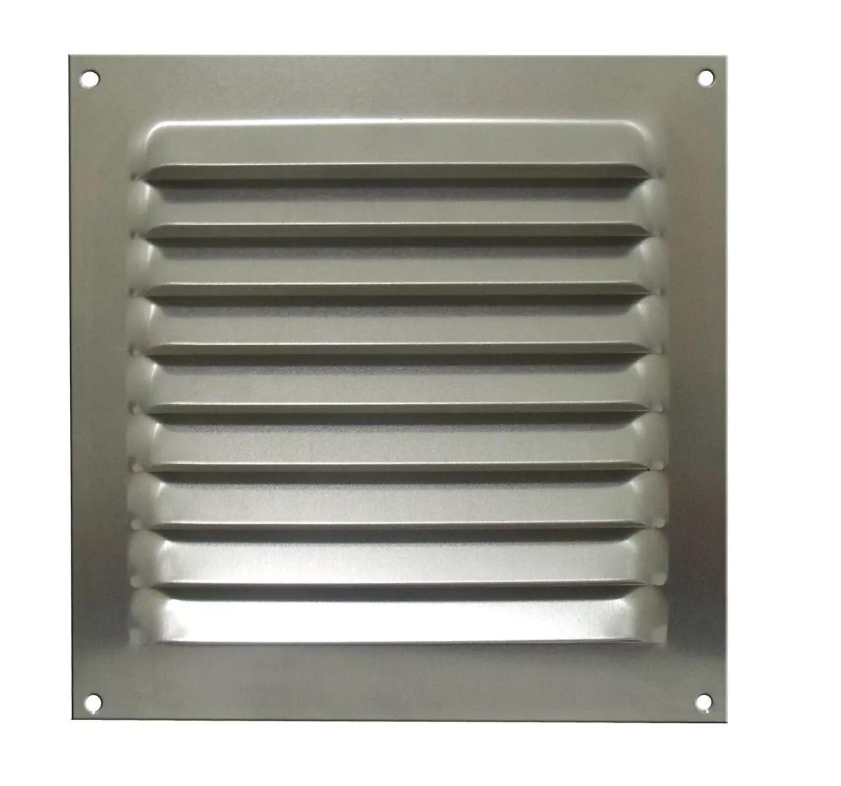 Grade De Ventilação Quadrada Alumínio 20x20 Cm Itc Kit com 20 Unidades