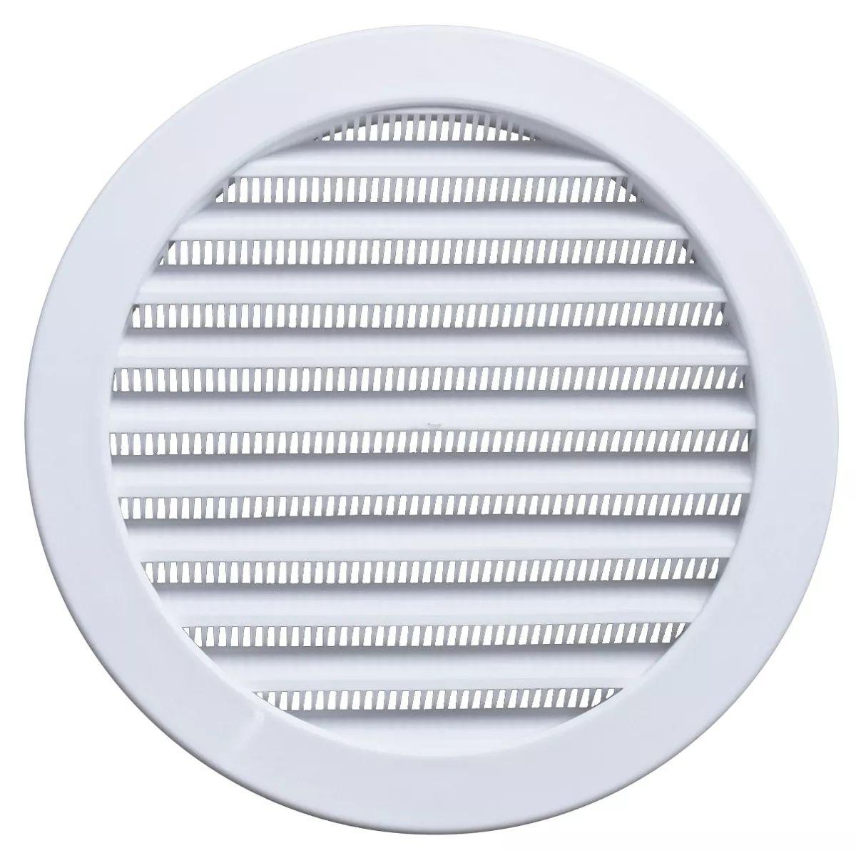 Grade De Ventilação Redonda 20 Cm Com Tela Itc Kit com 8 Unidades