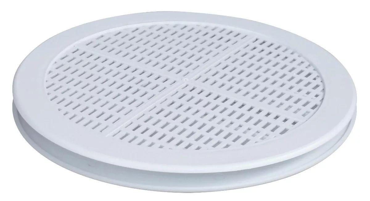 Grade De Ventilação Redonda Para Vidro 150mm ITC GR152