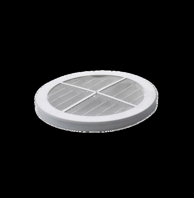 Grade De Ventilação Redonda Para Vidro 150mm Transparente ITC GR153