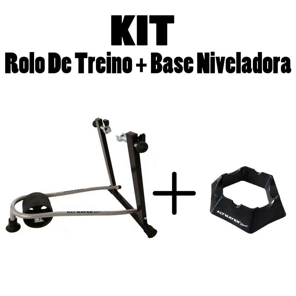 Kit Rolo de Treino e Base Niveladora Preta