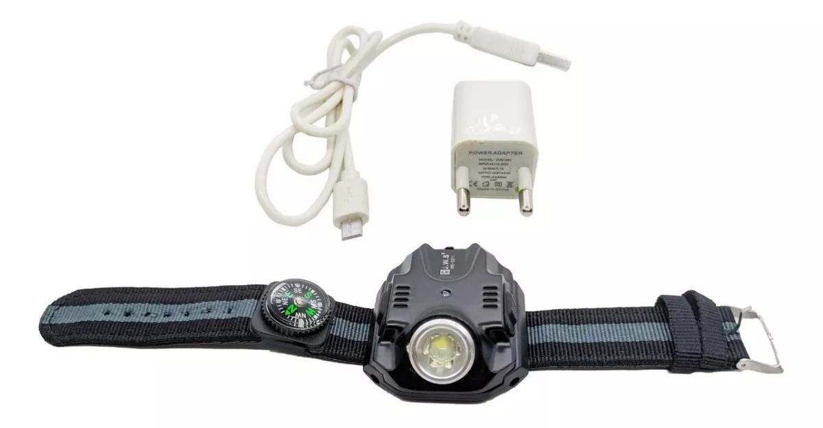 Lanterna De Pulso Recarregavel USB