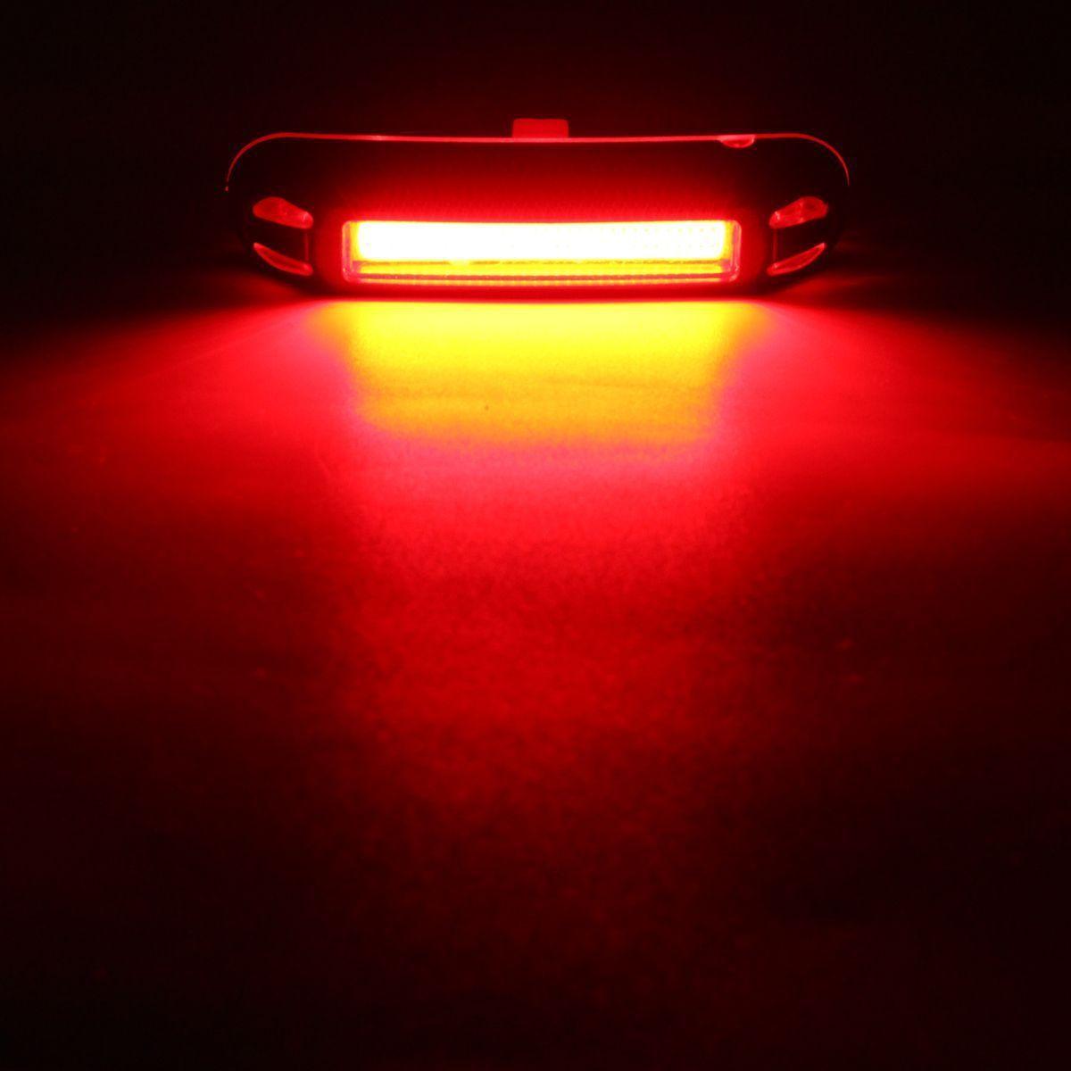 Pisca Lanterna Bike Led Traseiro 2 Cores Sinalizador Usb 5 Modos