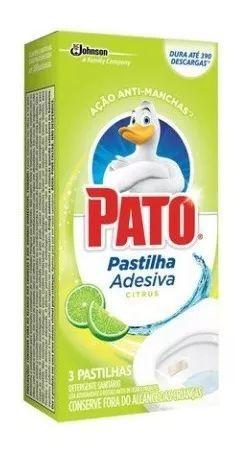 Pastilha Sanitária Adesiva Pato Citrus Emb. com 3 Pastilhas