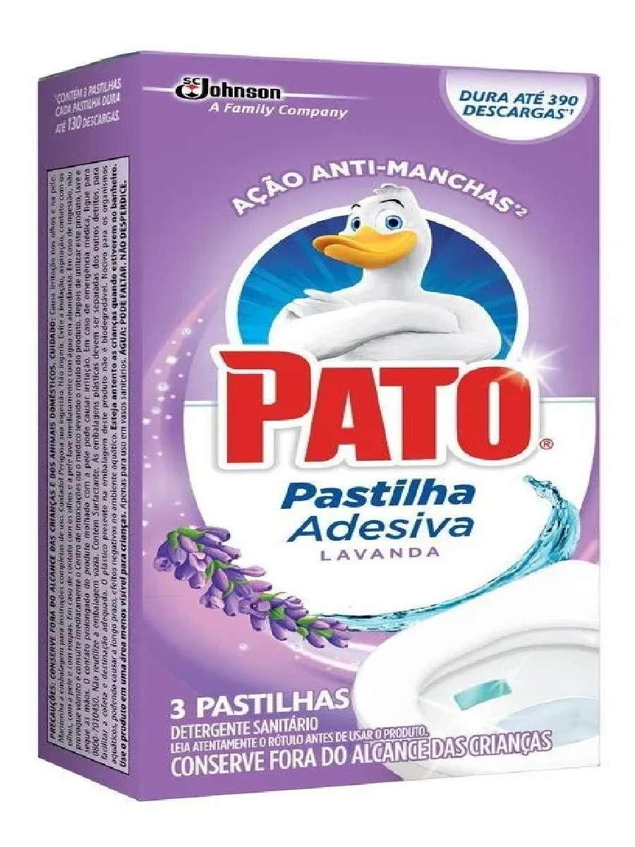 Odorizador Sanitário Pato Pastilha Adesiva C/ 3 Unidades Lavanda