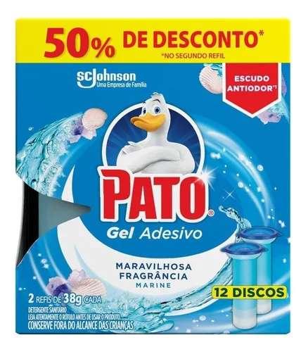 Pato Gel Adesivo Sanitário Marine 2 Refis De 38 gr