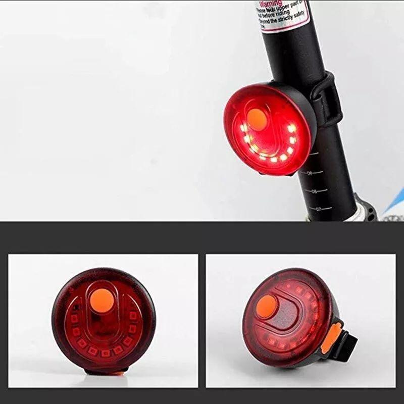 Pisca Traseiro Bicicleta Redondo 100 lumens USB Vermelho