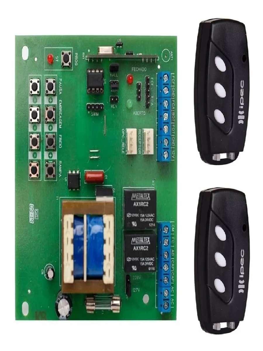 Placa Central Motor Portão De Sensor Hall Rossi 2 Controles TX Deco