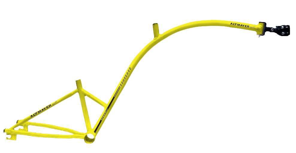 Quadro Bike Caroninha Amarelo Altmayer