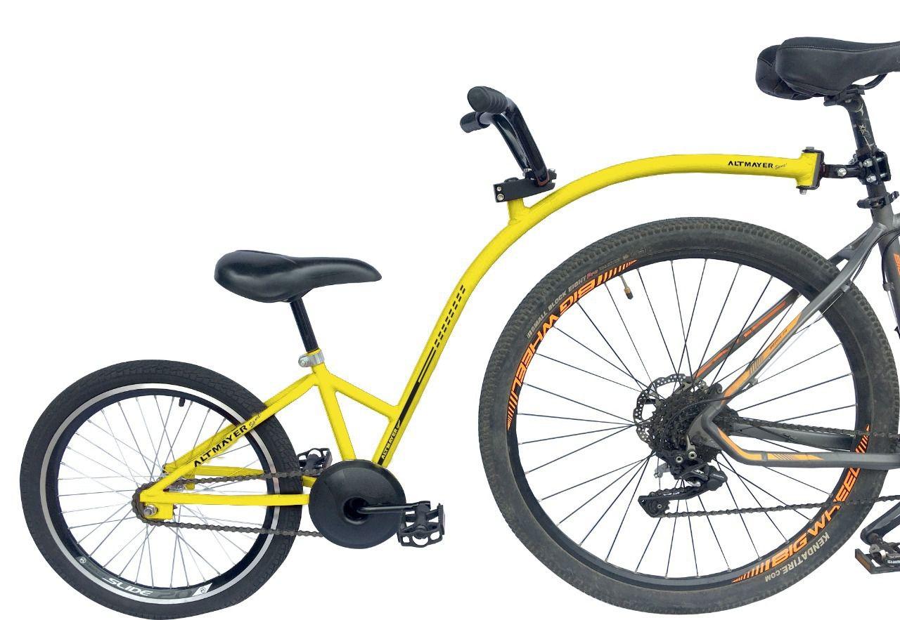Reboque Infantil para Bicicleta Aro 20 Completa - Bike Caroninha - Amarela - Altmayer