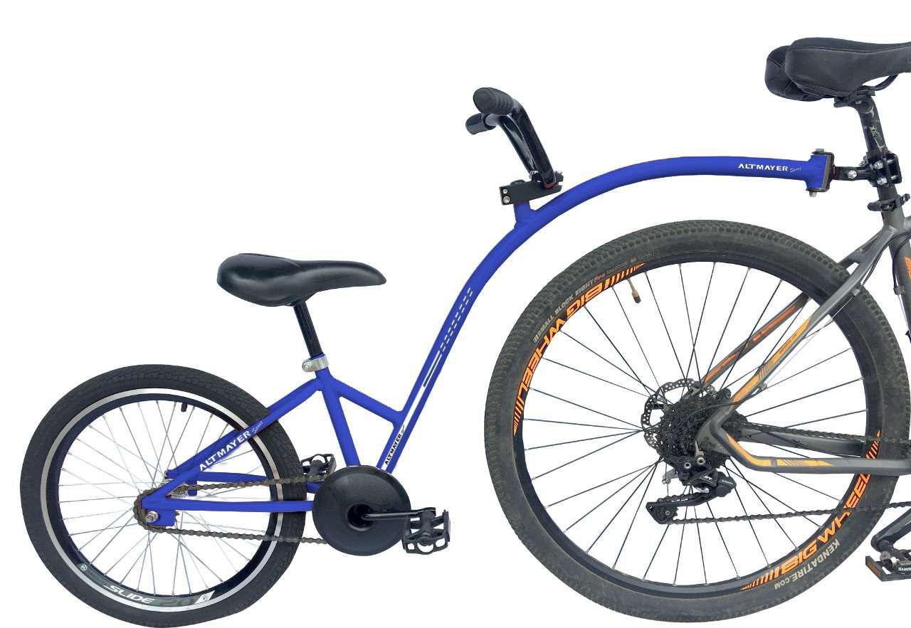 Reboque Infantil para Bicicleta Aro 20 Completa - Bike Caroninha - Azul - Altmayer