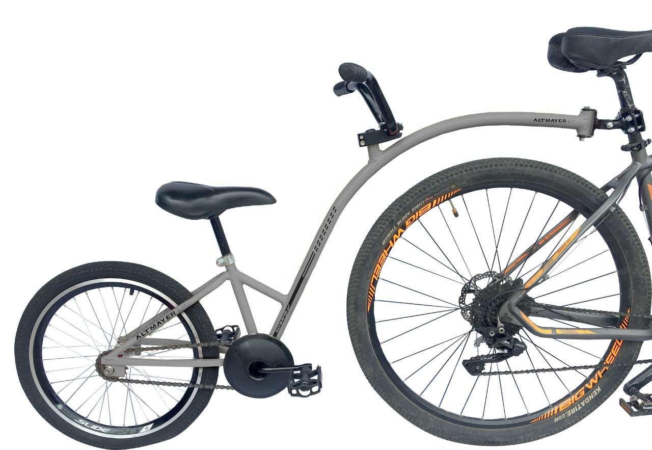 Reboque Infantil para Bicicleta Aro 20 Completa - Bike Caroninha -Cinza - Altmayer