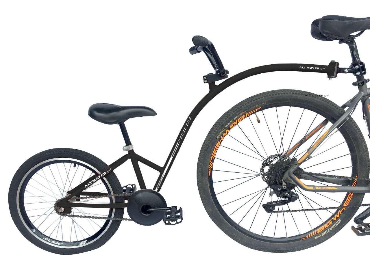 Reboque Infantil para Bicicleta Aro 20 Completa - Bike Caroninha - Preto - Altmayer