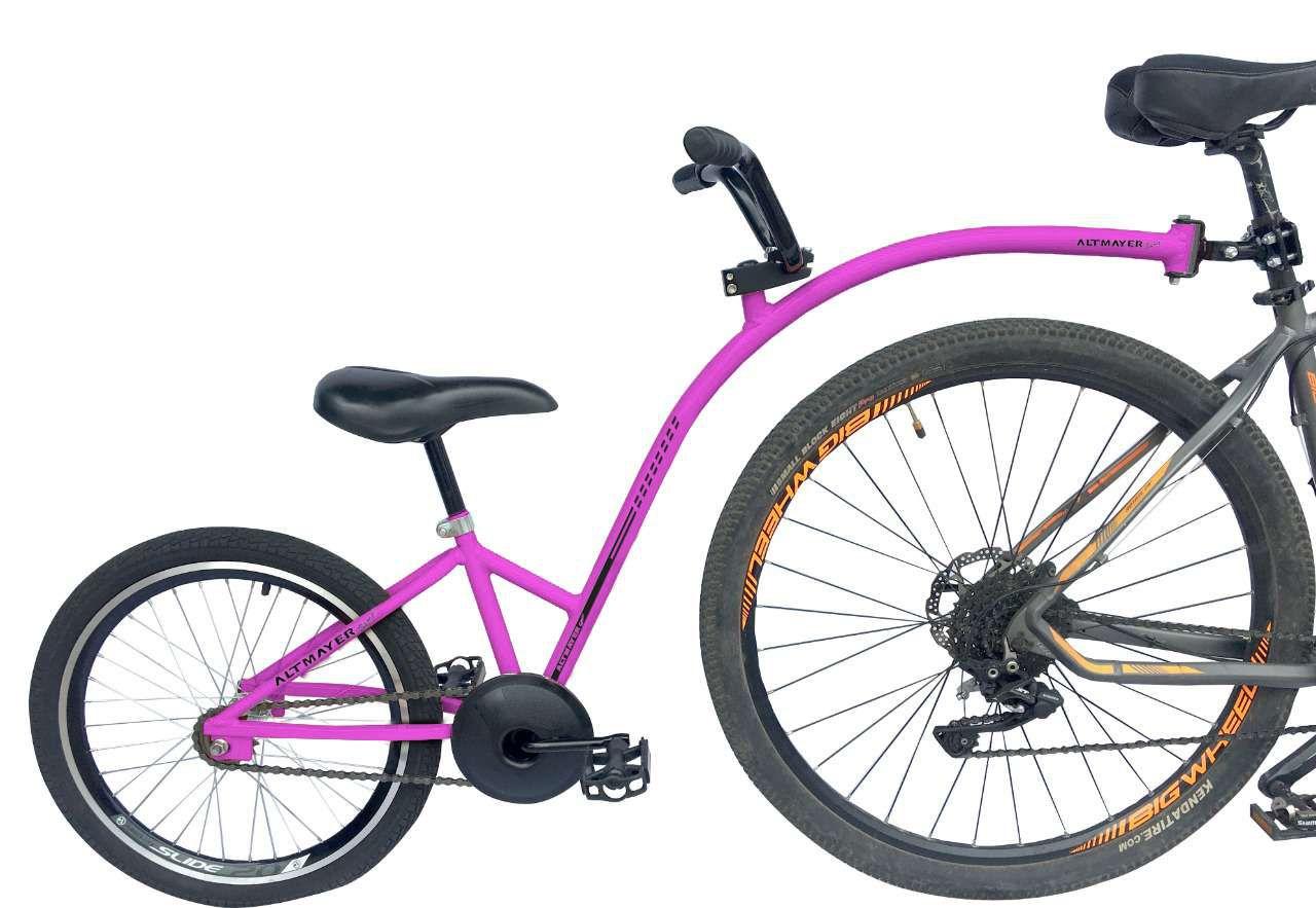Reboque Infantil para Bicicleta Aro 20 Completa - Bike Caroninha - Rosa - Altmayer