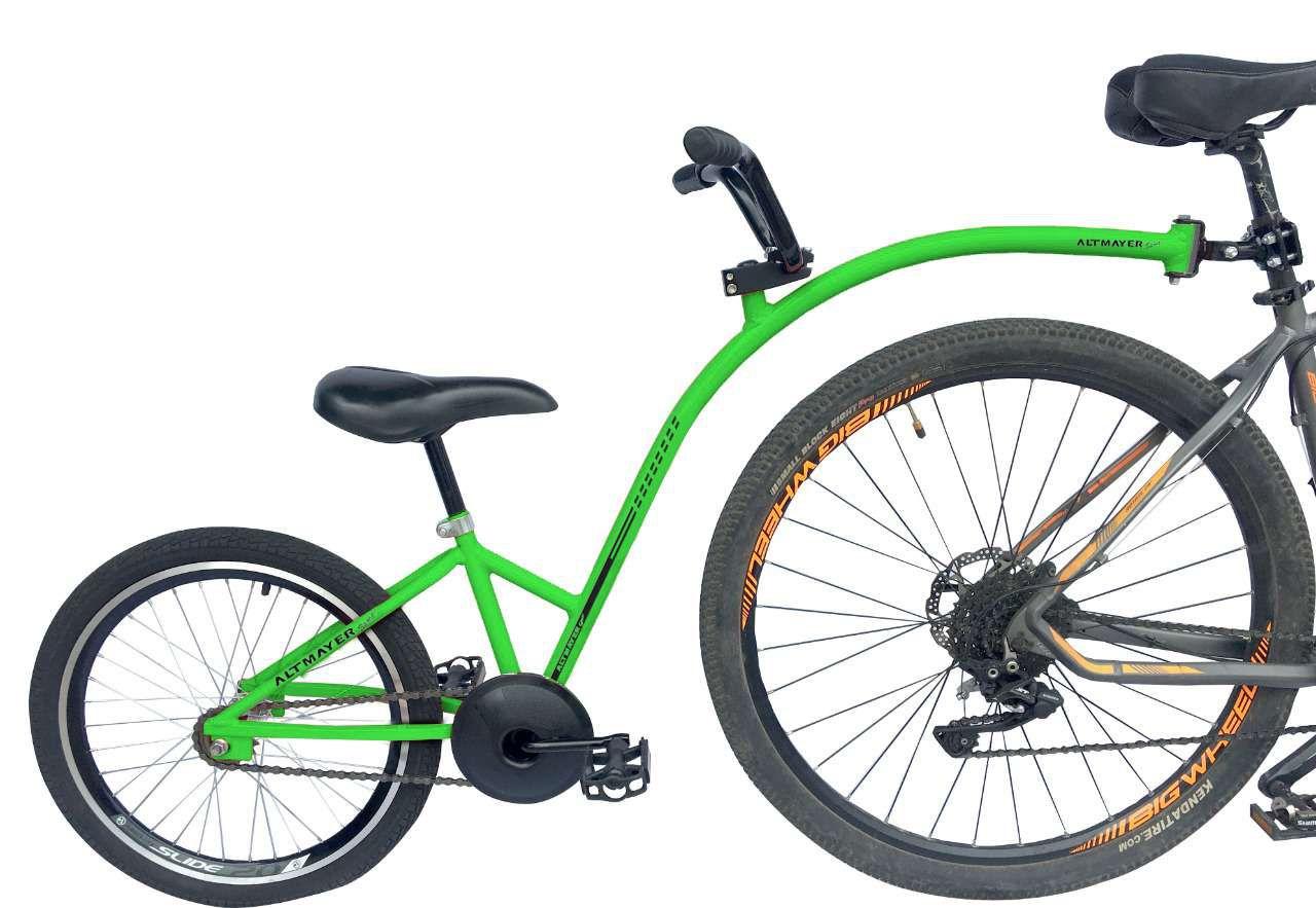 Reboque Infantil para Bicicleta Aro 20 Completa - Bike Caroninha - Verde - Altmayer