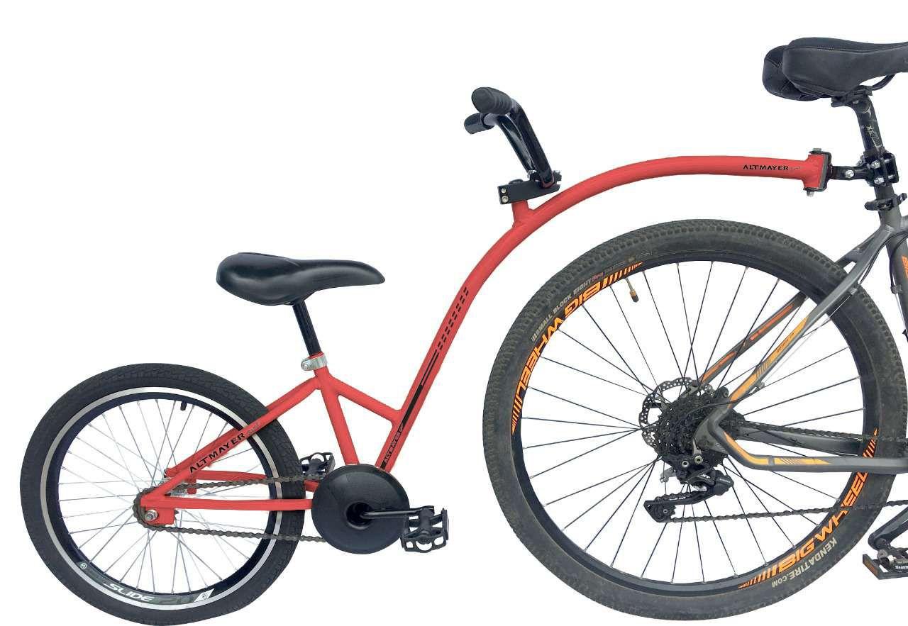 Reboque Infantil para Bicicleta Aro 20 Completa - Bike Caroninha -Vermelha - Altmayer
